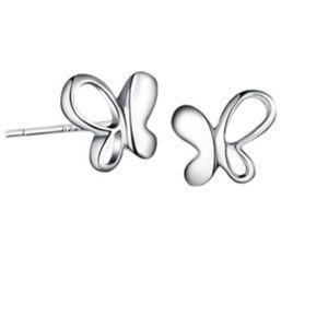 Sterling Silver Butterfly Post Earrings